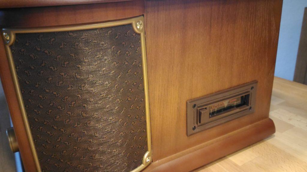 auna Belle Epoque 1908 Plattenspieler Retro Stereoanlage Musikanlage